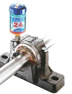 Image shows the lubrication system