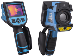 image shows a thermal imaging device